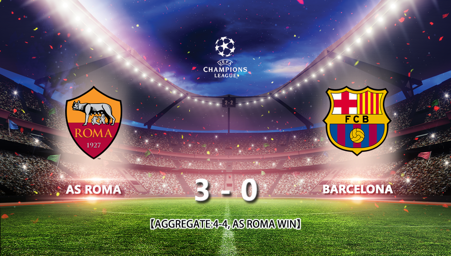 As Roma 3-0 Barcelona