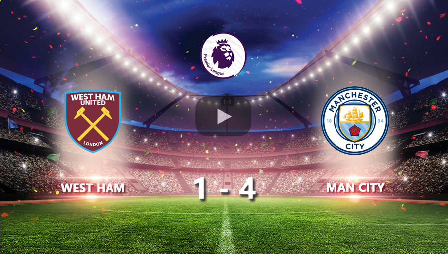 West Ham 1-4 Man City