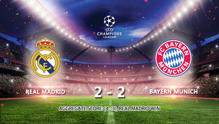 Real Madrid 2-2 Bayern Munich
