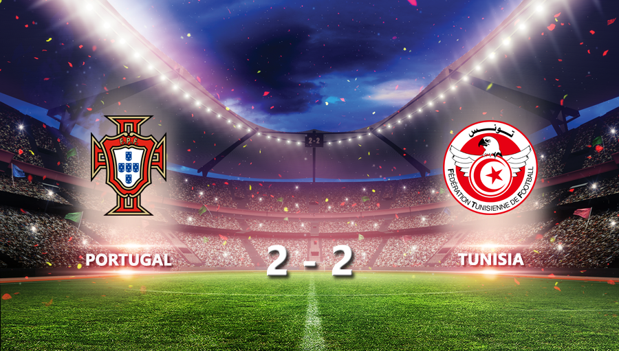 Portugal 2-2 Tunisia