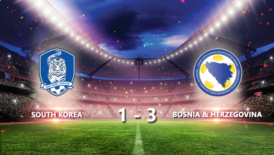 South Korea 1-3 Bosnia & Herzegovina