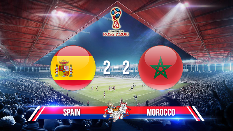 Spain 2-2 Morocco