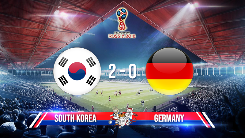 South Korea 2 - 0 Germany