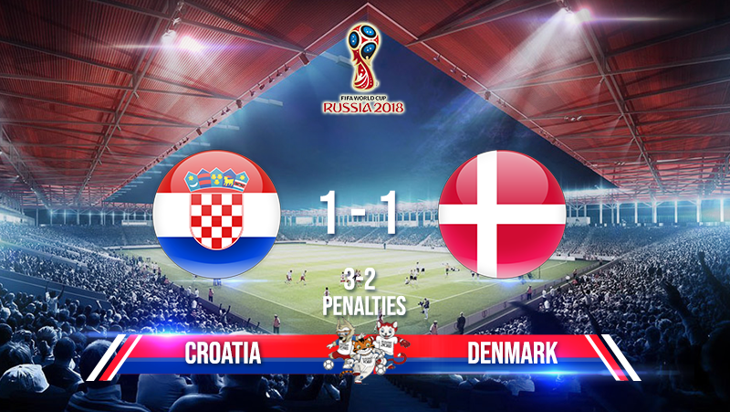 Croatia vs Denmark (Penalties: 3-2)