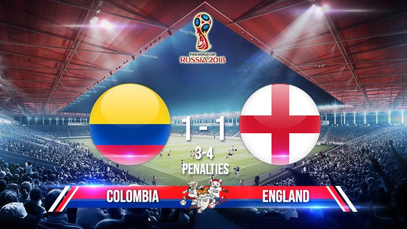 Colombia 1-1 England  (Penalties: 3-4)