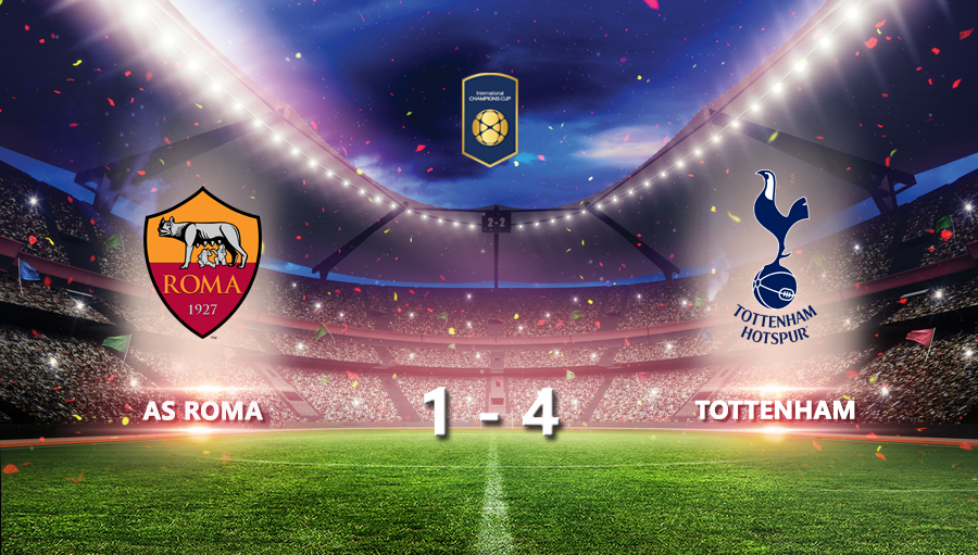 As Roma 1-4 Tottenham