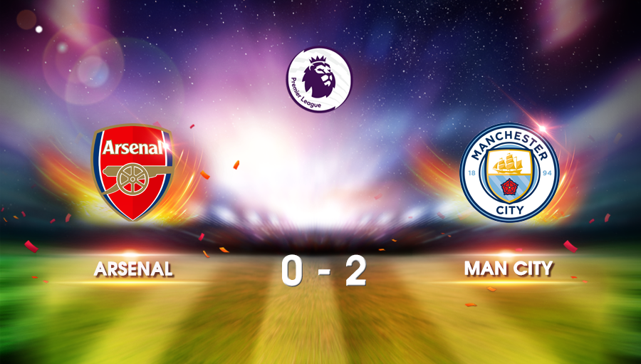 Arsenal 0-2 Man City