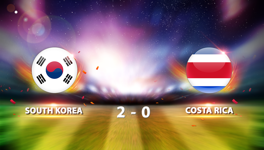 South Korea 2-0 Costa Rica