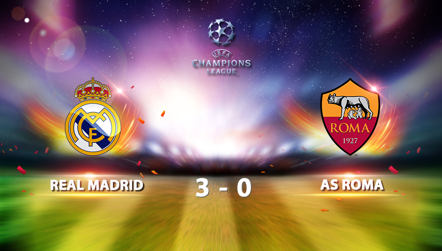 Real madrid 3-0 AS Roma