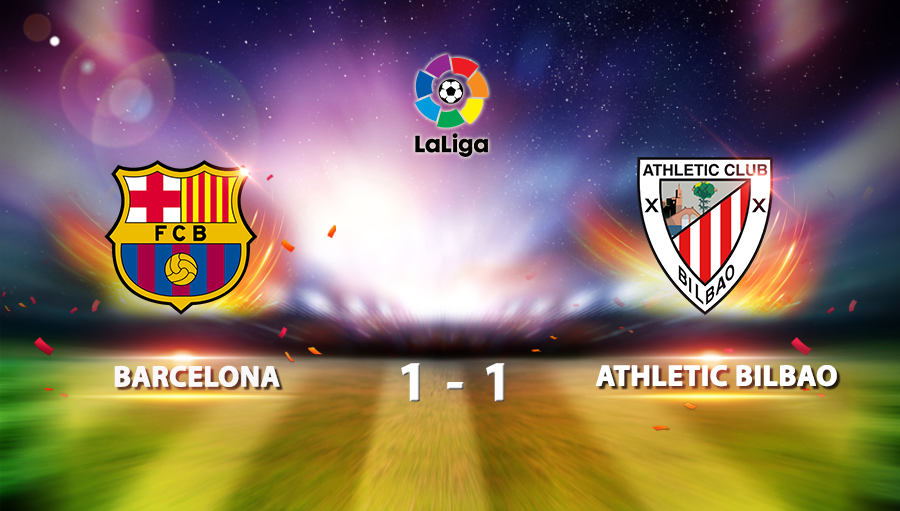 Barcelona 1-1Athletic Bilbao
