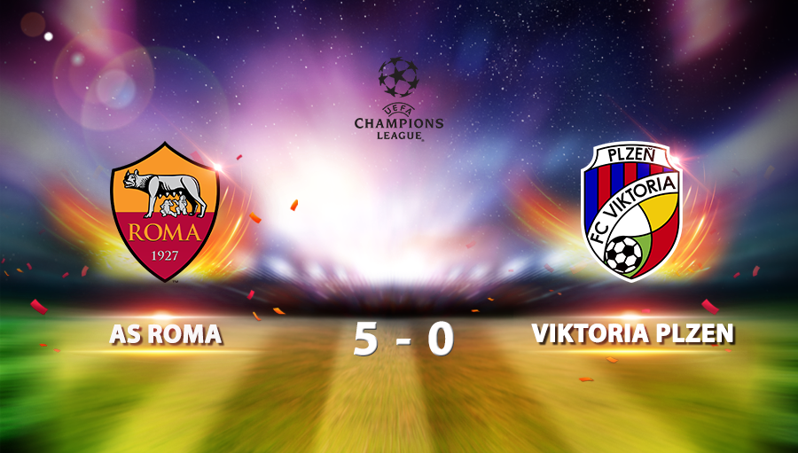 AS Roma 5-0 Viktoria Plzen