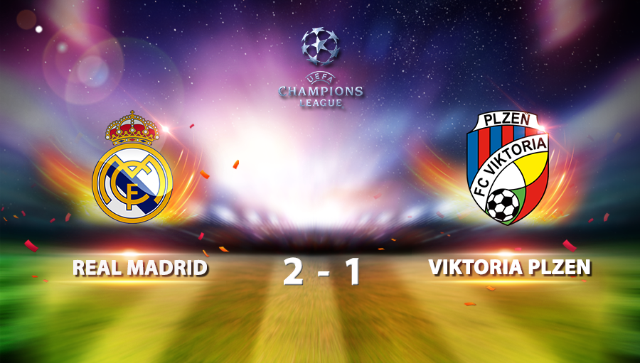 Real Madrid 2-1 Viktoria Plzen