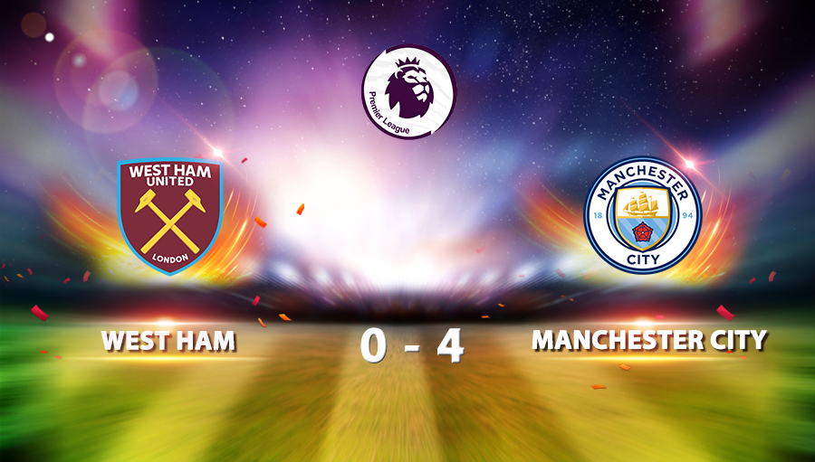 West Ham 0-4 Manchester City