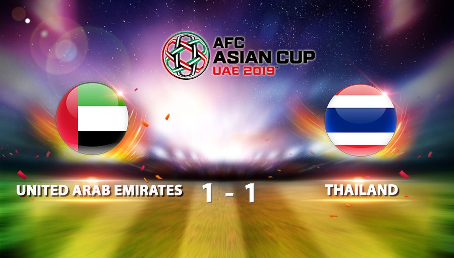 United Arab Emirates 1-1 Thailand