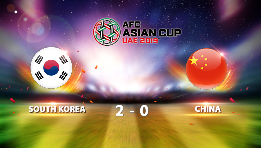 South Korea 2-0 China