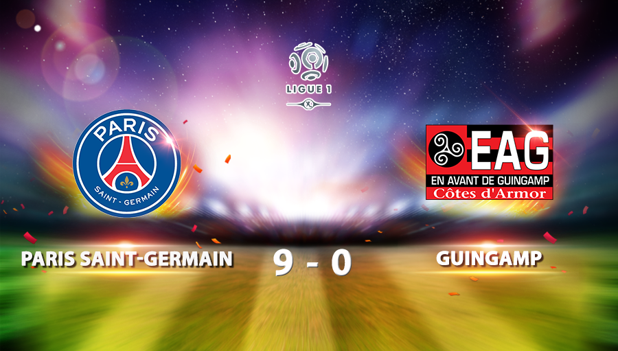 Paris Saint-Germain 9-0 Guingamp