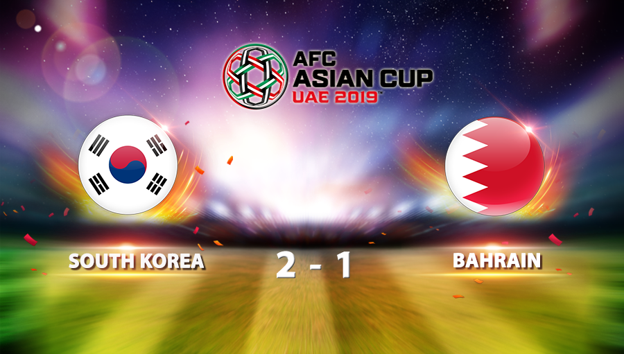 South Korea  2-1 Bahrain