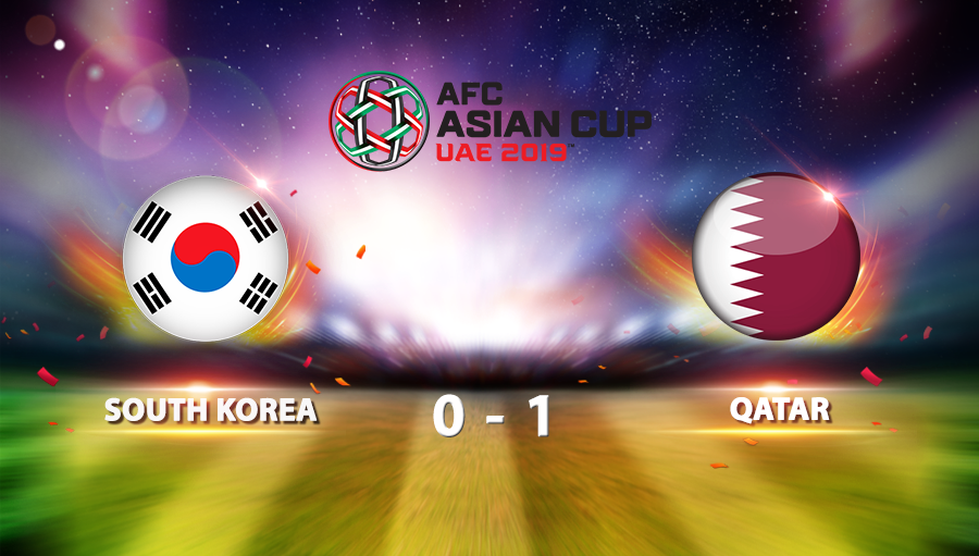 South Korea 0-1 Qatar