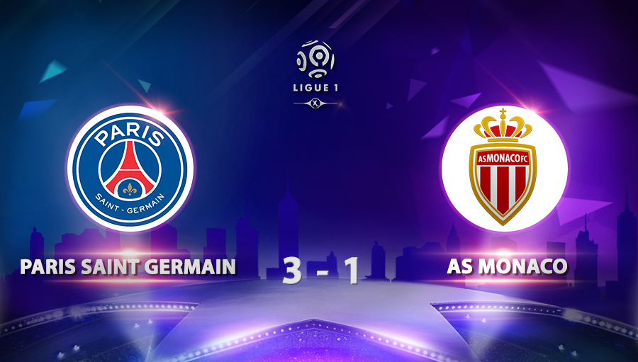 Paris Saint Germain 3-1 As Monaco