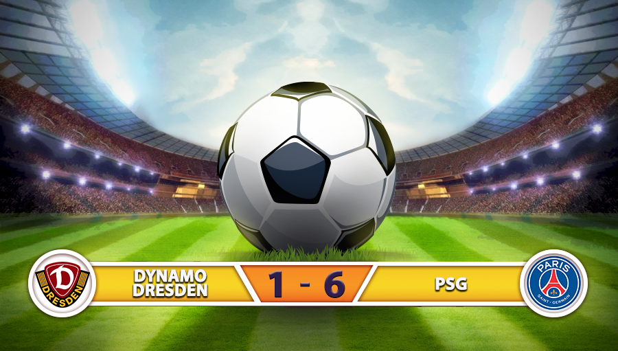 Dynamo Dresden 1-6 Paris Saint Germain