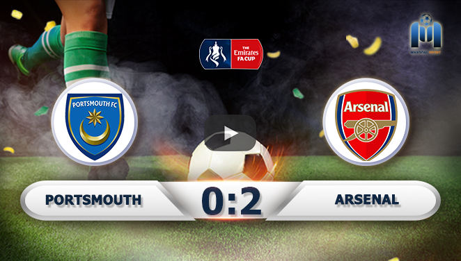 Portsmouth 0-2 Arsenal