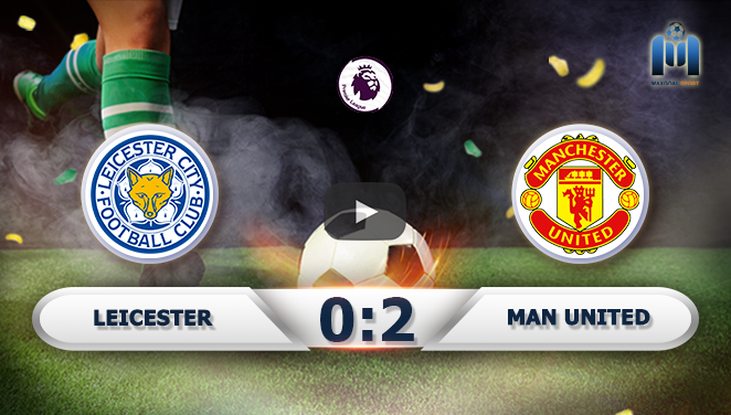 Leicester 0-2 Manchester United