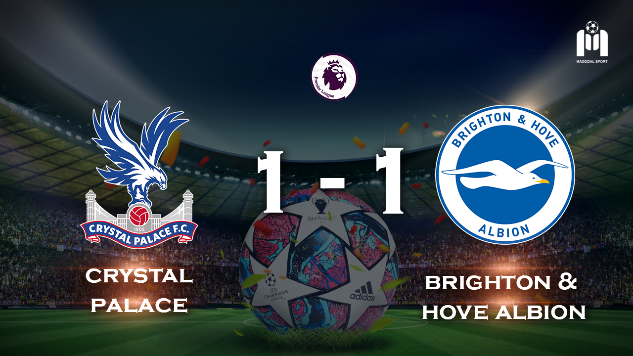 Crystal Palace 1 - 1 Brighton & Hove Albion